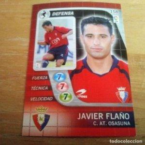 158 Javier Flaño. C. AT. Osasuna. Derby Total 2005 2006 05 06 LFP El gran juego de fútbol de Panini