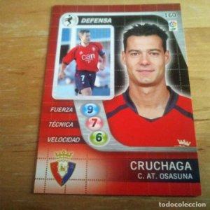 160 Cruchaga. C. AT. Osasuna. Derby Total 2005 2006 05 06 LFP El gran juego de fútbol de Panini