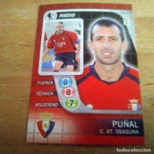 162 Puñal. C. AT. Osasuna. Derby Total 2005 2006 05 06 LFP El gran juego de fútbol de Panini