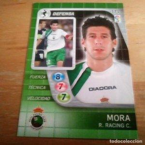 171 Mora. Racing Santander. Derby Total 2005 2006 05 06 LFP El gran juego de fútbol de Panini