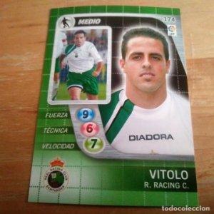 174 Vitolo. Racing Santander. Derby Total 2005 2006 05 06 LFP El gran juego de fútbol de Panini