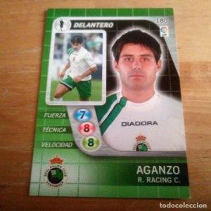 180 Aganzo. Racing Santander. Derby Total 2005 2006 05 06 LFP El gran juego de fútbol de Panini