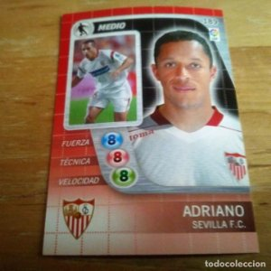 189 Adriano. Sevilla F.C. Derby Total 2005 2006 05 06 LFP El gran juego de fútbol de Panini