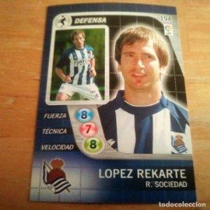 194 Lopez Rekarte. Real Sociedad. Derby Total 2005 2006 05 06 LFP El gran juego de fútbol de Panini