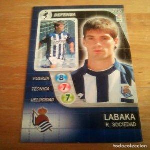 195 Labaka. Real Sociedad. Derby Total 2005 2006 05 06 LFP El gran juego de fútbol de Panini