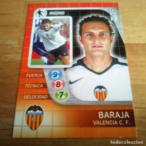 211 Baraja. Valencia C.F.. Derby Total 2005 2006 05 06 LFP El gran juego de fútbol de Panini