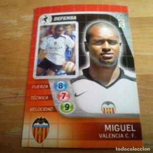 206 Miguel. Valencia C.F.. Derby Total 2005 2006 05 06 LFP El gran juego de fútbol de Panini