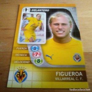 228 Figueroa. Villarreal C.F.. Derby Total 2005 2006 05 06 LFP El gran juego de fútbol de Panini