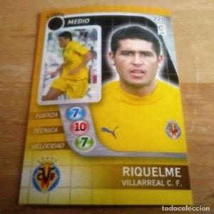 225 Riquelme STARS Villarreal C.F. Derby Total 2005 2006 05 06 LFP El gran juego de fútbol de Panini