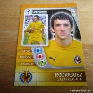 220 Rodriguez. Villarreal C.F. Derby Total 2005 2006 05 06 LFP El gran juego de fútbol de Panini