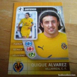 219 Quique Alvarez Villarreal C.F. Derby Total 2005 2006 05 06 LFP El gran juego de fútbol de Panini