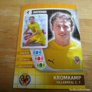 218 Kromkamp. Villarreal C.F. Derby Total 2005 2006 05 06 LFP El gran juego de fútbol de Panini