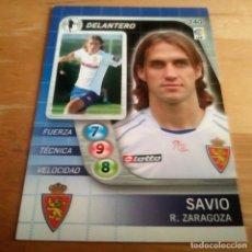 Cromos de Fútbol: 240 SAVIO. REAL ZARAGOZA. DERBY TOTAL 2005 2006 05 06 LFP EL GRAN JUEGO DE FÚTBOL DE PANINI. Lote 165638010