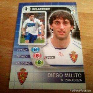 239 Diego Milito. Real Zaragoza. Derby Total 2005 2006 05 06 LFP El gran juego de fútbol de Panini