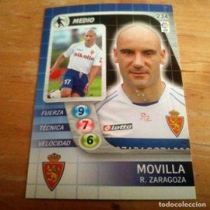 234 Movilla. Real Zaragoza. Derby Total 2005 2006 05 06 LFP El gran juego de fútbol de Panini