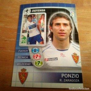 230 Ponzio. Real Zaragoza. Derby Total 2005 2006 05 06 LFP El gran juego de fútbol de Panini