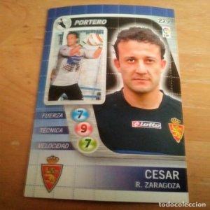 229 Cesar. Real Zaragoza. Derby Total 2005 2006 05 06 LFP El gran juego de fútbol de Panini