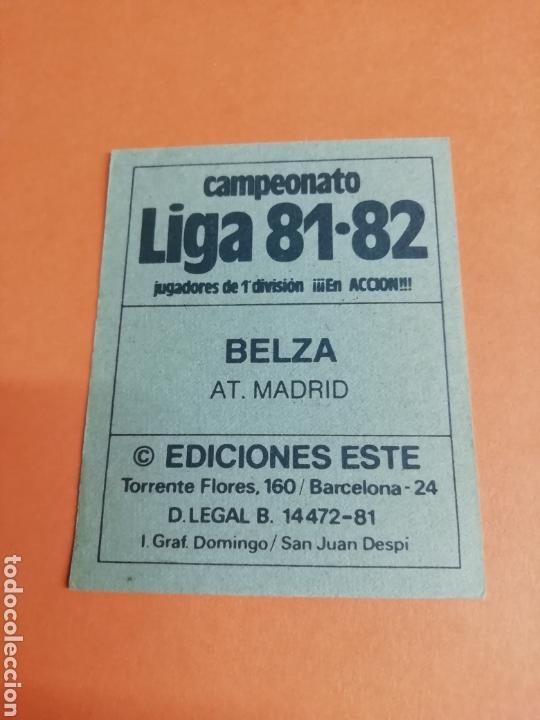 Cromos de Fútbol: Este liga 81/82..Belza.. Baja.. Atlético de Madrid.. Nunca pegado.. Sin pegar... - Foto 2 - 165693306