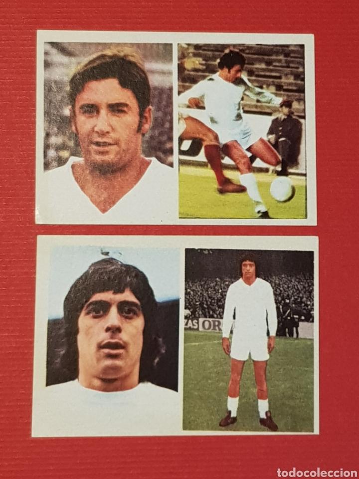FHER 1976-1977 REAL MADRID 2 CROMOS NUEVOS 155 RUBIÑAN 164 GUERINI 76-77 ADHESIVOS (Coleccionismo Deportivo - Álbumes y Cromos de Deportes - Cromos de Fútbol)