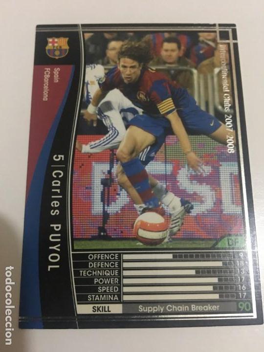 CROMO CARD WCCF LIGA 2007-08 PANINI DE JAPÓN FC BARCELONA BARÇA CARLES PUYOL TENGOMAS MIRA MIS LOTES (Coleccionismo Deportivo - Álbumes y Cromos de Deportes - Cromos de Fútbol)