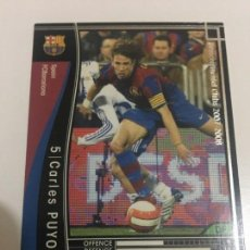 Cromos de Fútbol: CROMO CARD WCCF LIGA 2007-08 PANINI DE JAPÓN FC BARCELONA BARÇA CARLES PUYOL TENGOMAS MIRA MIS LOTES. Lote 165753634