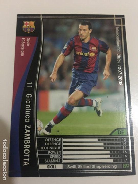 CROMO CARD WCCF LIGA 2007-08 PANINI DE JAPÓN FC BARCELONA BARÇA ZAMBROTTA TENGO MAS MIRA MIS LOTES (Coleccionismo Deportivo - Álbumes y Cromos de Deportes - Cromos de Fútbol)