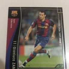 Cromos de Fútbol: CROMO CARD WCCF LIGA 2007-08 PANINI DE JAPÓN FC BARCELONA BARÇA ZAMBROTTA TENGO MAS MIRA MIS LOTES. Lote 165754714