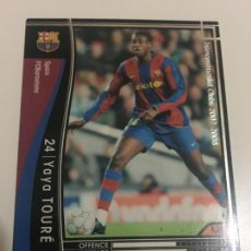 Cromos de Fútbol: CROMO CARD WCCF LIGA 2007-08 PANINI DE JAPÓN FC BARCELONA BARÇA YAYA TOURE TENGO MAS MIRA MIS LOTES. Lote 165755258