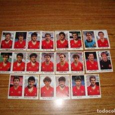 Cromos de Fútbol: (ALB-TC-100) COLECCION COMPLETA DE 22 CROMOS SELECCION ESPAÑOLA 1990 DE REVILLA SIN PEGAR. Lote 165854042