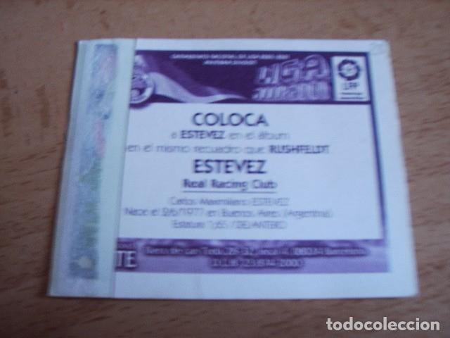 Cromos de Fútbol: ESTE 00-01 COLOCA ESTEVEZ ( RACING ) VENTANILLA - Foto 2 - 166049874