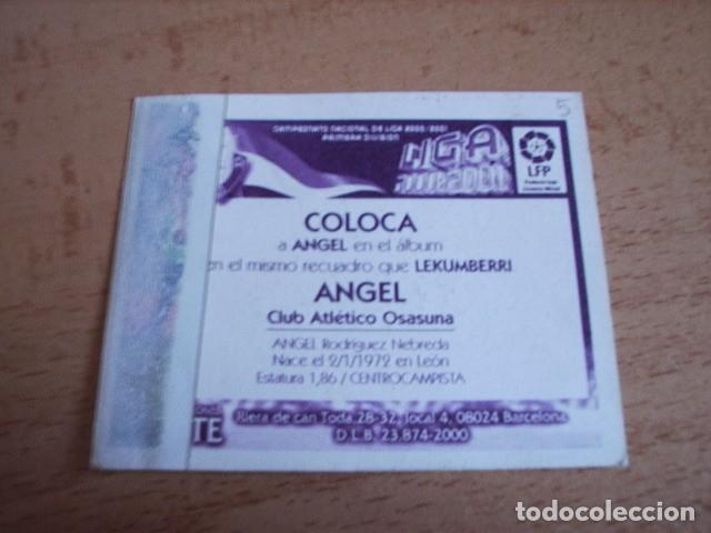 Cromos de Fútbol: ESTE 00-01 COLOCA ANGEL ( OSASUNA ) VENTANILLA - Foto 2 - 166050158