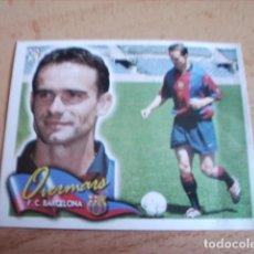 Cromos de Fútbol: ESTE 00-01 COLOCA OVERMARS ( BARCELONA ) VENTANILLA. Lote 166050426