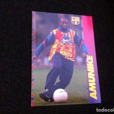 Cromos de Fútbol: CROMO DE FÚTBOL (F.C. BARCELONA 96-97) PANINI. Nº 99. AMUNIKE. Lote 166121230