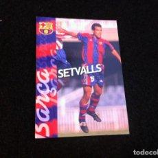Cromos de Fútbol: CROMO DE FÚTBOL (F.C. BARCELONA 96-97) PANINI. Nº 121. SETVALLS. Lote 166122330