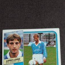 Cromos de Fútbol: ESTE 89 90 1989 1990 - LÓPEZ LÓPEZ ( BAJA ) - REAL OVIEDO ( NUNCA PEGADO ) . Lote 166327546