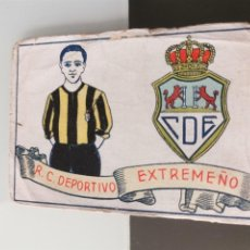 Cromos de Fútbol: CROMO FÚTBOL CHOCOLATES AMATLLER 1929 COLECCIÓN DE 50 CROMOS Nº 50 R. C. DEPORTIVO EXTREMEÑO. Lote 166653018
