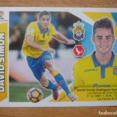 Cromos de Fútbol: ESTE 2017 2018 PANINI 3 B DAVID SIMON (LAS PALMAS) SIN PEGAR - CROMO FUTBOL LIGA 17 18. Lote 194622136