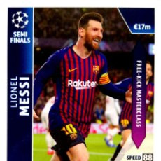 Cromos de Fútbol: OD 35 MESSI - BARCELONA - SEMI FINALS - ON DEMAND - TOPPS UEFA CHAMPIONS LEAGUE MATCH ATTAX 18 19. Lote 166945564