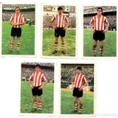 Cromos de Fútbol: ATLETICO ATHLETIC BILBAO (FHER 1968/69) ARGOITIA, ARIETA, URIARTE, LAVIN Y ESTEFANO.. Lote 167235684