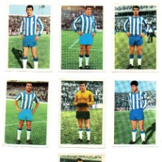 Cromos de Fútbol: C.D. MALAGA (FHER 1968/69) MONTERO, MARTINEZ, ARIAS, CHUZO, GOICOECHEA, MONREAL Y VALLEJO.. Lote 167239776