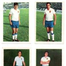 Cromos de Fútbol: REAL ZARAGOZA (FHER 1968/69) MOYA, MARCELINO, SANTAMARIA Y VILLA.. Lote 167241720