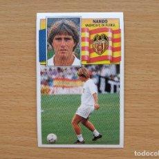Cromos de Fútbol: NANDO VALENCIA EDICIONES ESTE 1990 1991 LIGA 90 91 NUEVO CROMO SIN PEGAR NUNCA PEGADO. Lote 167630908