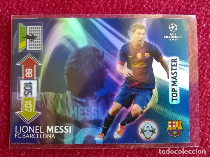 TOP MASTER MESSI BARCELONA ADRENALYN CHAMPIONS LEAGUE 2012 2013 12 13- NUEVO DE SOBRE (Coleccionismo Deportivo - Álbumes y Cromos de Deportes - Cromos de Fútbol)