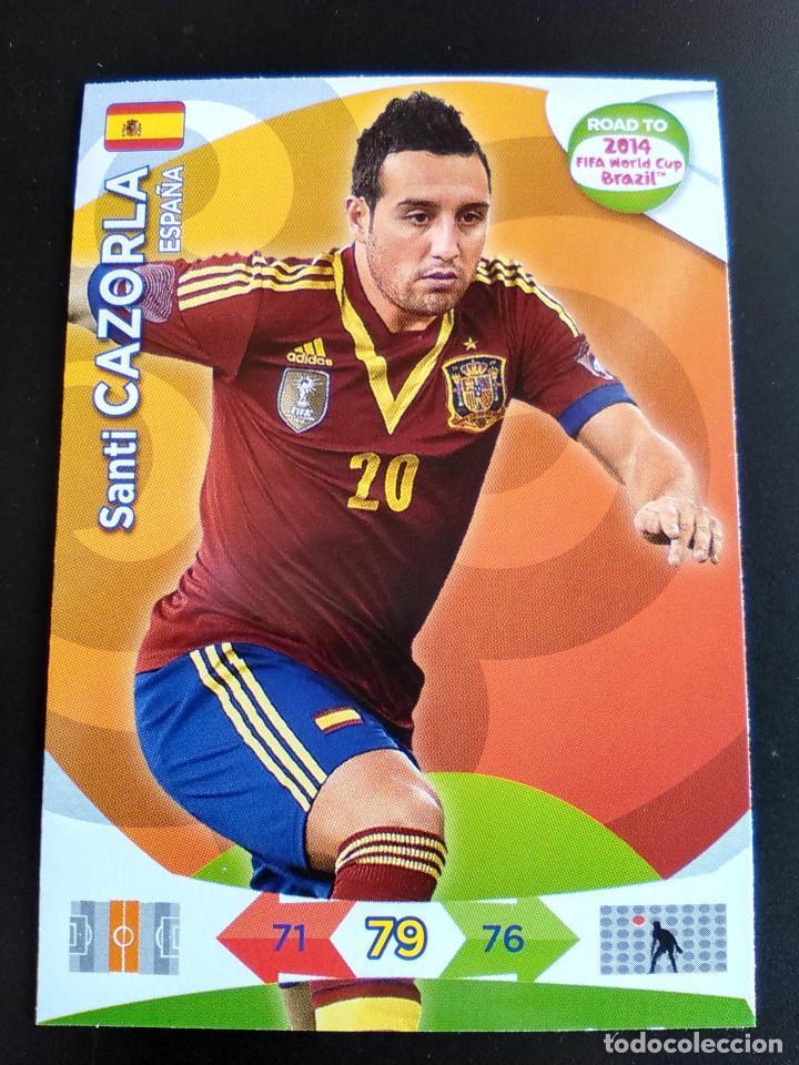 SANTI CAZORLA ESPAÑA ADRENALYN XL ROAD TO BRASIL 2014 WORLD CUP, CROMOS FUTBOL (Coleccionismo Deportivo - Álbumes y Cromos de Deportes - Cromos de Fútbol)
