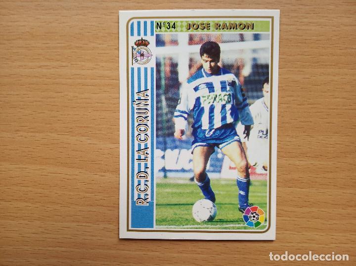 34 JOSE RAMON DEPORTIVO DE LA CORUÑA MUNDICROMO FICHAS DE LA LIGA 94 95 1994 1995 CROMO FUTBOL (Coleccionismo Deportivo - Álbumes y Cromos de Deportes - Cromos de Fútbol)