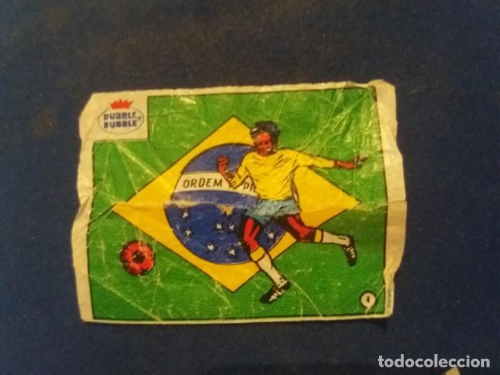 DUBBLE BUBBLE FUTBOL MUNDIAL CAMPEONES DE LA COPA DEL MUNDO BRASIL 1958 1962 1970 NÚMERO 4 (Coleccionismo Deportivo - Álbumes y Cromos de Deportes - Cromos de Fútbol)