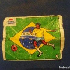 Cromos de Fútbol: DUBBLE BUBBLE FUTBOL MUNDIAL CAMPEONES DE LA COPA DEL MUNDO BRASIL 1958 1962 1970 NÚMERO 4. Lote 168396196