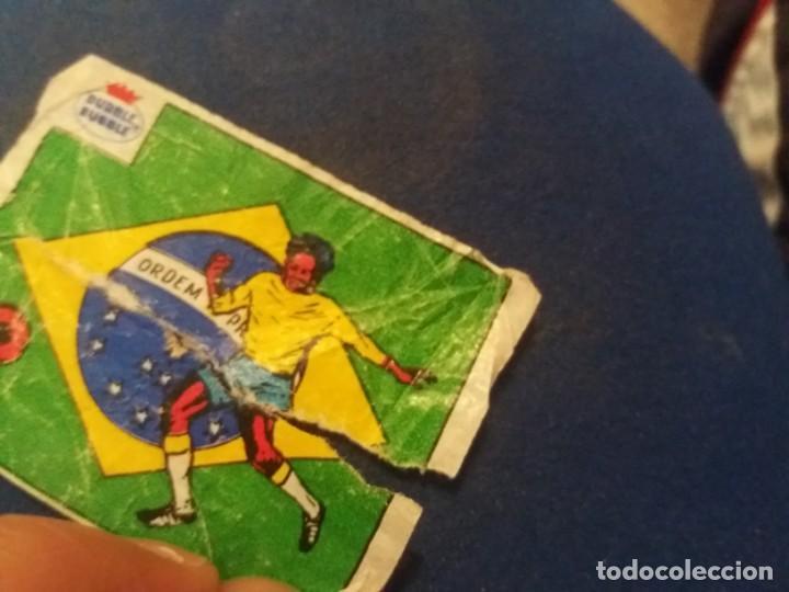 Cromos de Fútbol: DUBBLE BUBBLE FUTBOL MUNDIAL CAMPEONES DE LA COPA DEL MUNDO BRASIL 1958 1962 1970 NÚMERO 4 - Foto 3 - 168396196
