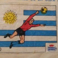 Cromos de Fútbol: DUBBLE BUBBLE FUTBOL MUNDIAL CAMPEONES DE LA COPA DEL MUNDO URUGUAY 1930 1950 NÚMERO 1 RECORTADO. Lote 168396364