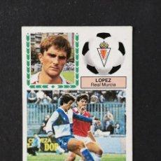 Cromos de Fútbol: MUR LOPEZ MURCIA 1983 1984 83 84 EDICIONES ESTE CROMO DESPEGADO. Lote 159809846